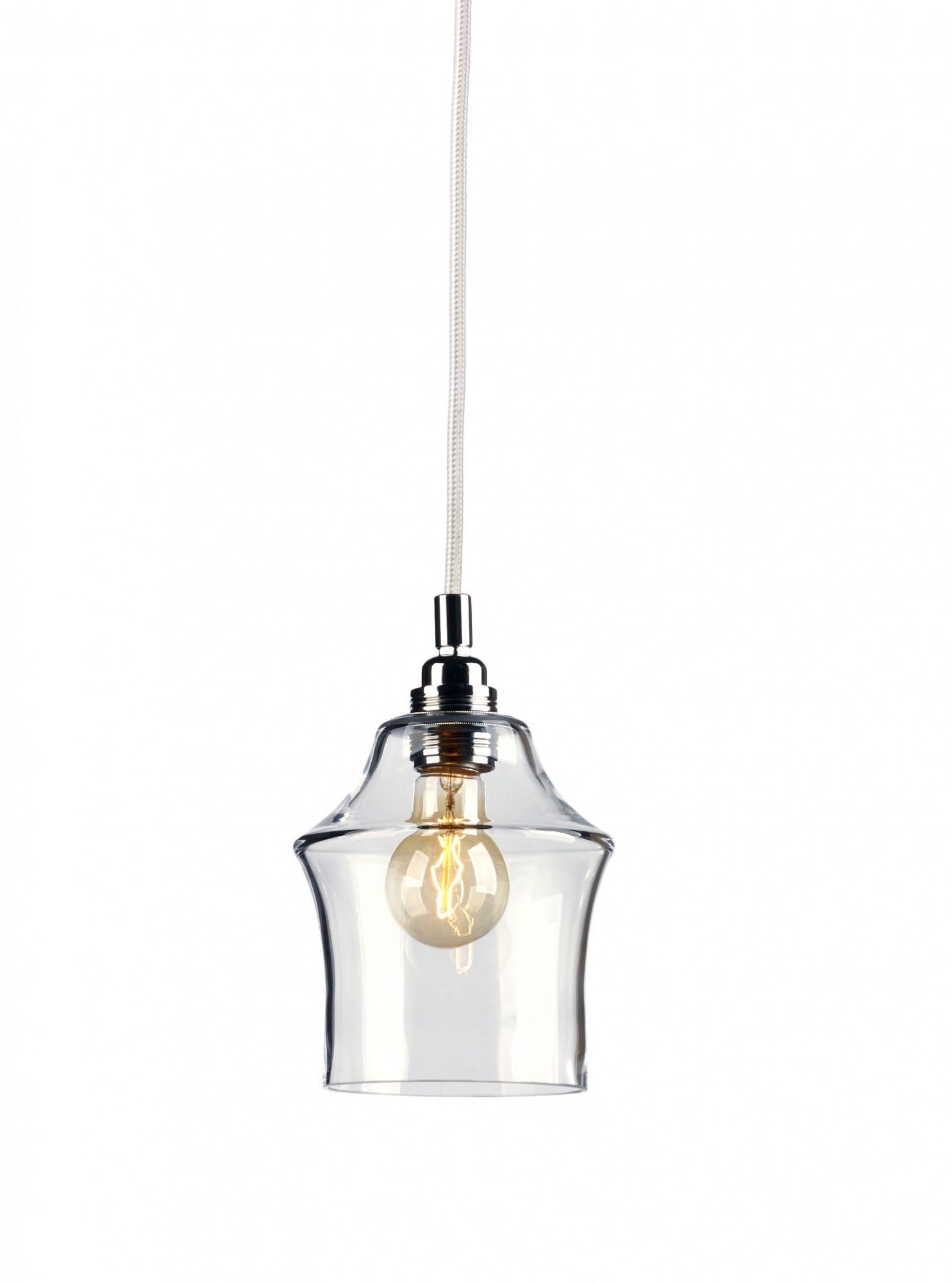 Lampa wisząca Longis II 10131109 oprawa przezroczysta / przewód biały Kaspa
