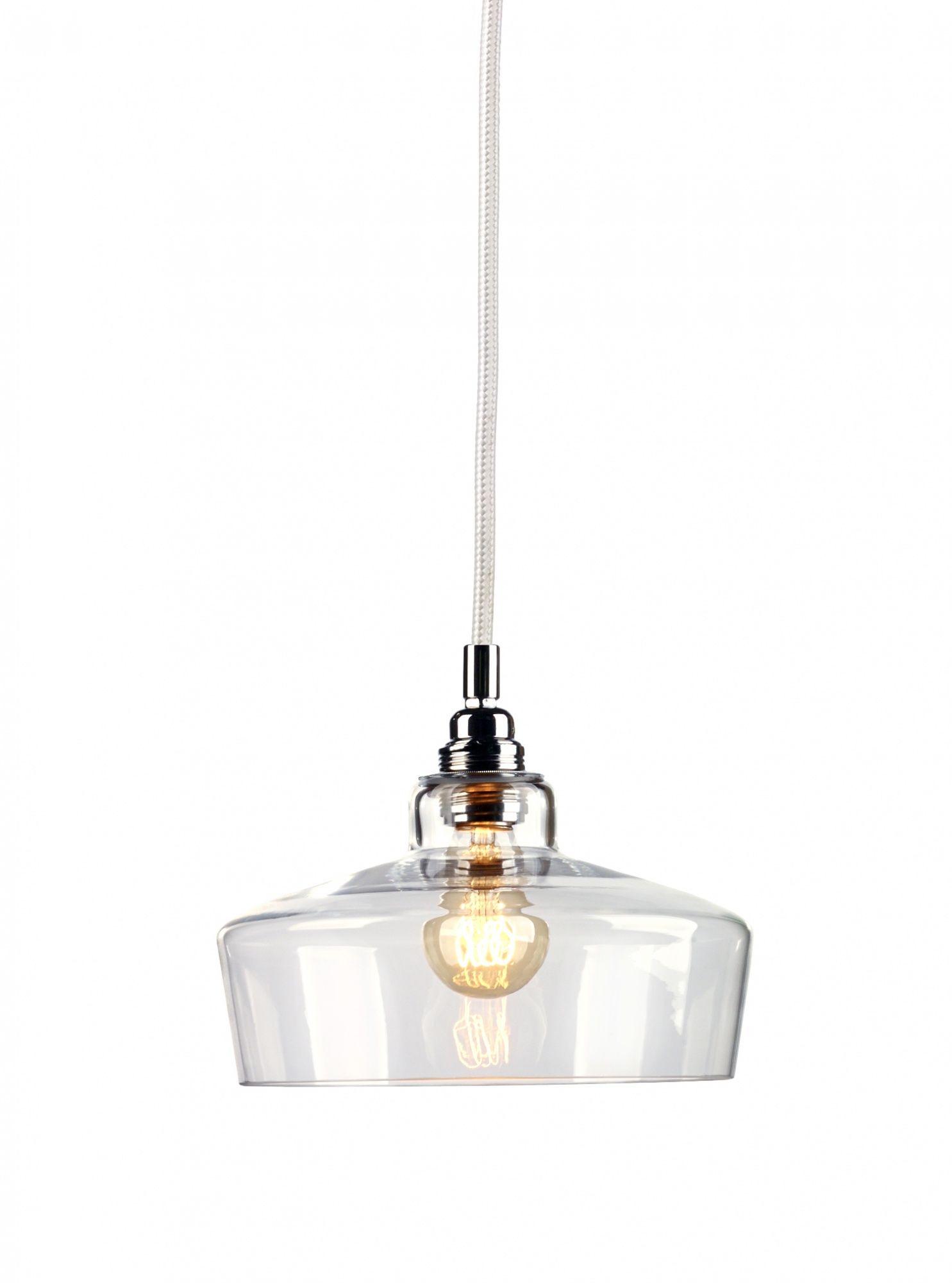Lampa wisząca Longis III 10145109 oprawa przezroczysta / przewód biały Kaspa
