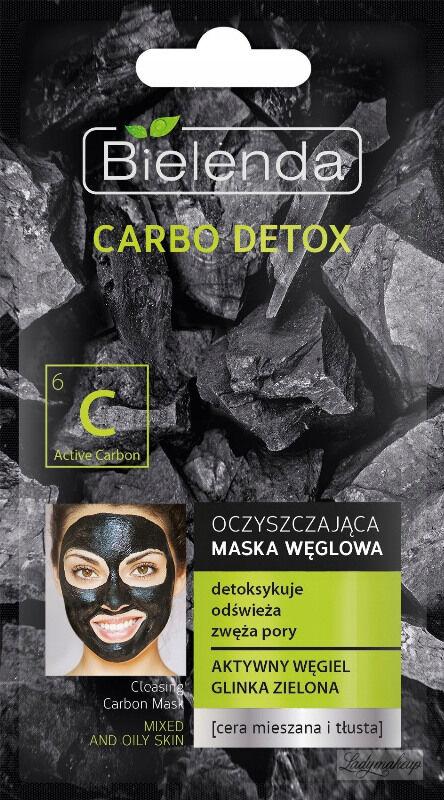 Bielenda - Carbo Detox - Cleansing Carbon Mask - Oczyszczająca maska węglowa do twarzy - 8 g