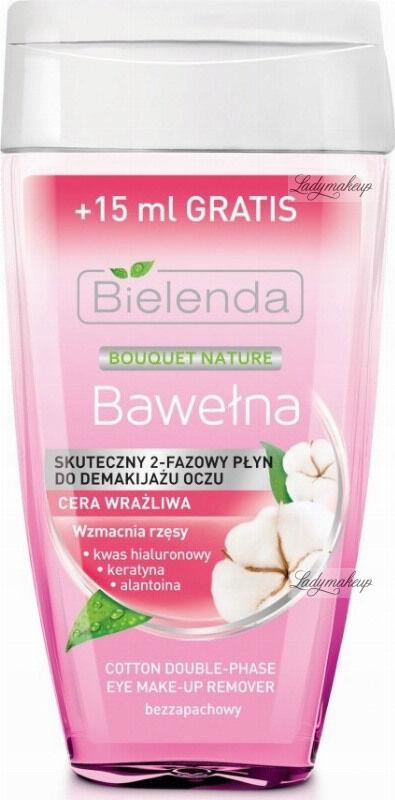 Bielenda - Bouquet Nature - Cotton Double-Phase Eye Make-up Remover - Skuteczny 2 fazowy płyn do demakijażu oczu - Bawełna - 140 ml