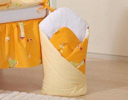 MAMO-TATO Rożek niemowlęcy Ślimaki pomarańczowe