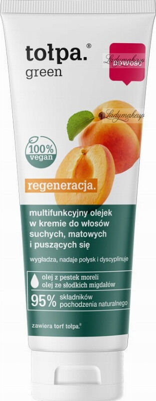 Tołpa - Green - Regeneracja - Multifunkcyjny olejek w kremie do włosów suchych, matowych i puszących się - 125 ml