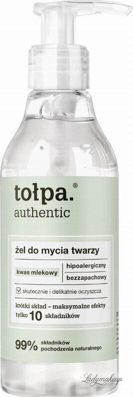 Tołpa - Authentic - Hipoalergiczny żel do mycia twarzy z kwasem mlekowym - 195 ml