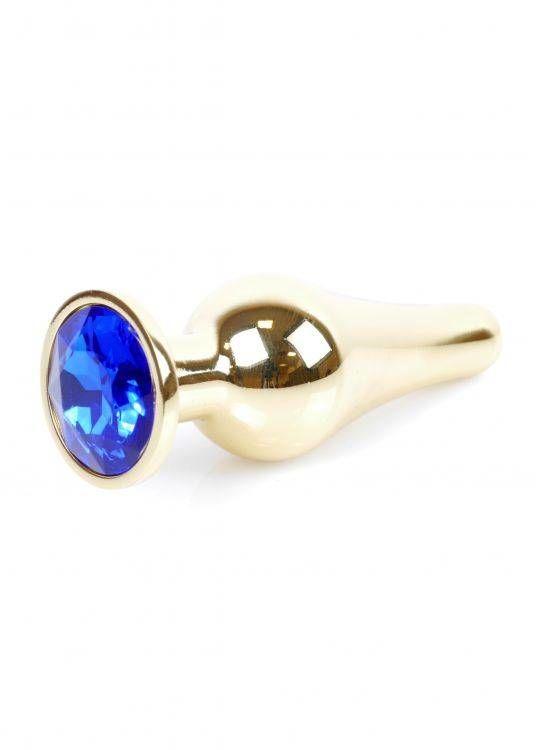 Metalowy Korek Idealnie Wyprofilowany z Klejnotem Złoto-niebieski