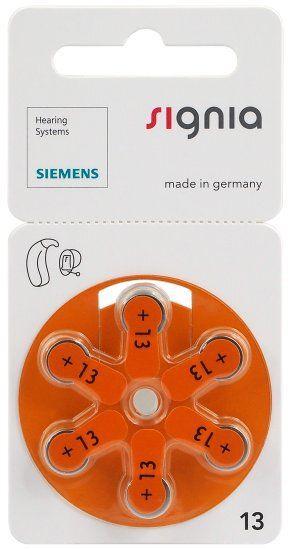 Baterie do aparatów słuchowych Siemens Signia 13 MF