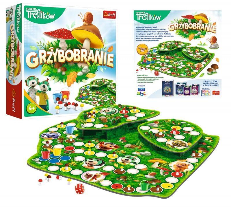 Gra Grzybobranie Rodzina Treflików Trefl 02035 4+ 6018-TREFL-GRY