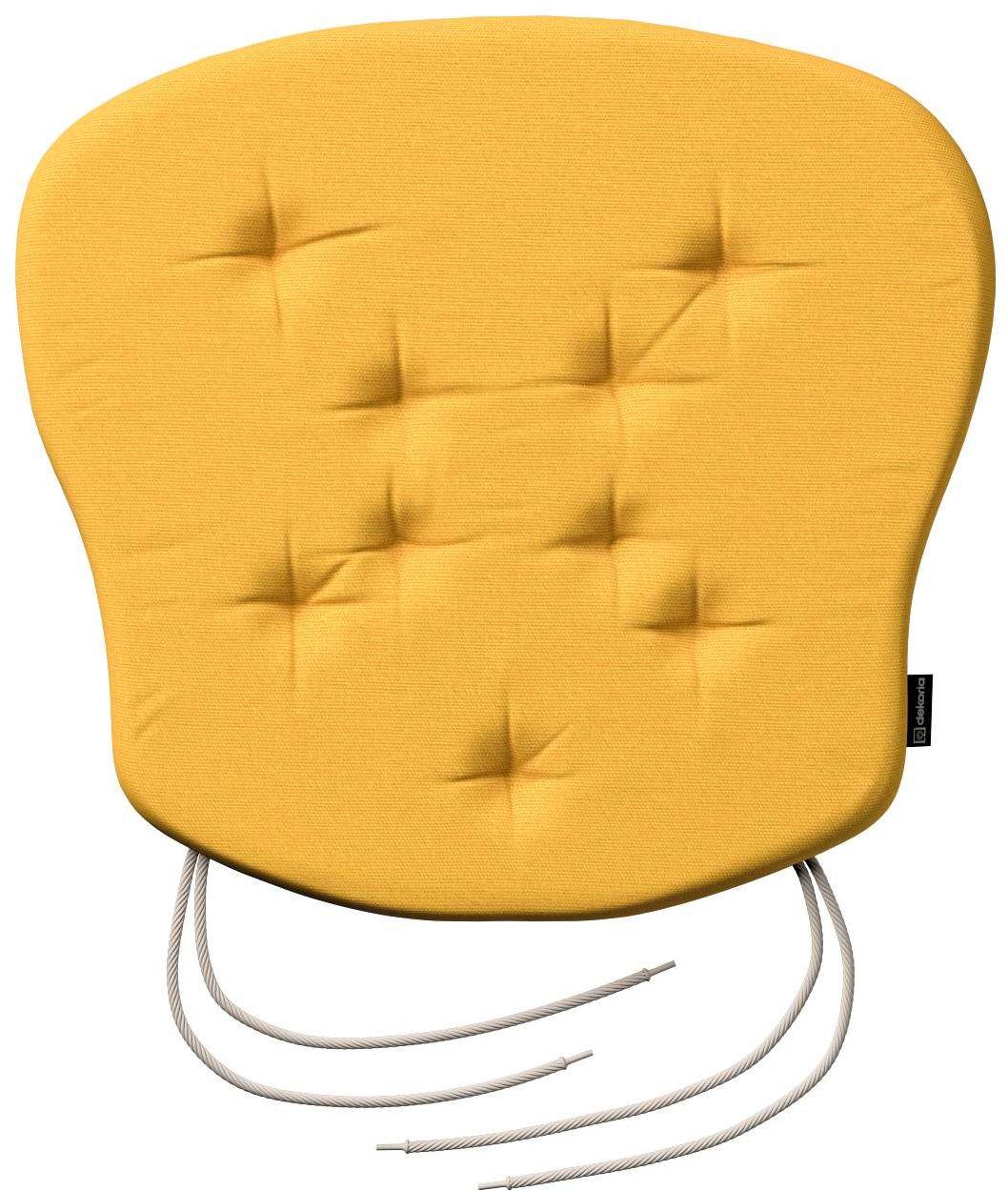 Siedzisko Filip na krzesło, żółty, 41  38  3,5 cm, Loneta