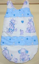 MAMO-TATO Śpiworek niemowlęcy Błękitne serduszka