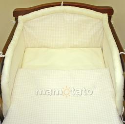 MAMO-TATO Śpiworek niemowlęcy Krateczka ecru