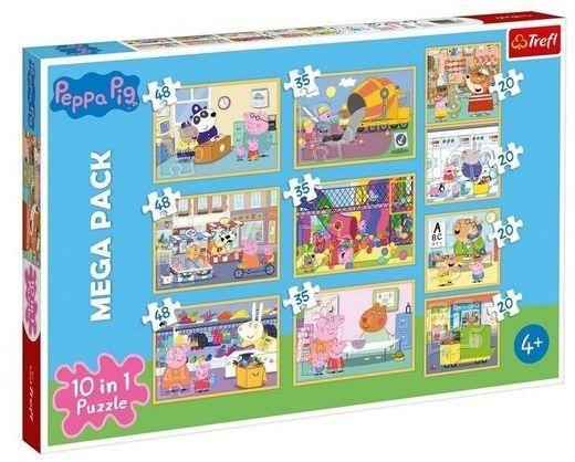 Puzzle 10w1. Świnka Peppa z przyjaciółmi