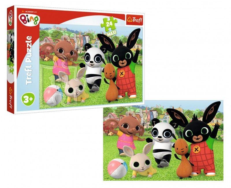 Puzzle 24 Maxi Bing Zabawa w parku Trefl 14306 3+ 6157-TREFL-PUZZLE