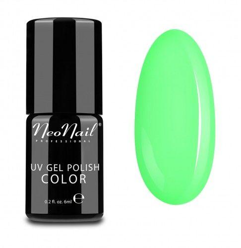 NeoNail Lakier hybrydowy Neon Green - 6 Ml