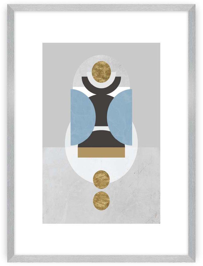 Plakat Geometric Shapes I, 40 x 50 cm, Ramka: Srebrna