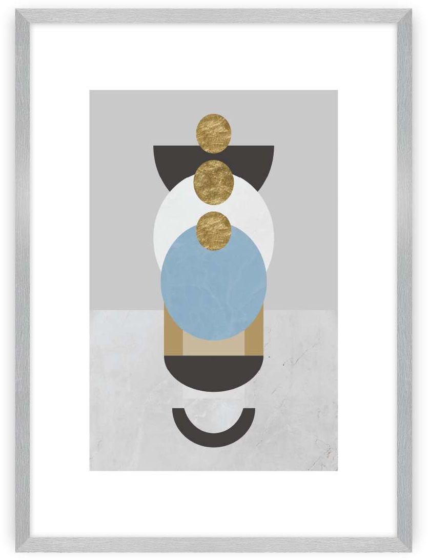 Plakat Geometric Shapes II, 40 x 50 cm, Ramka: Srebrna