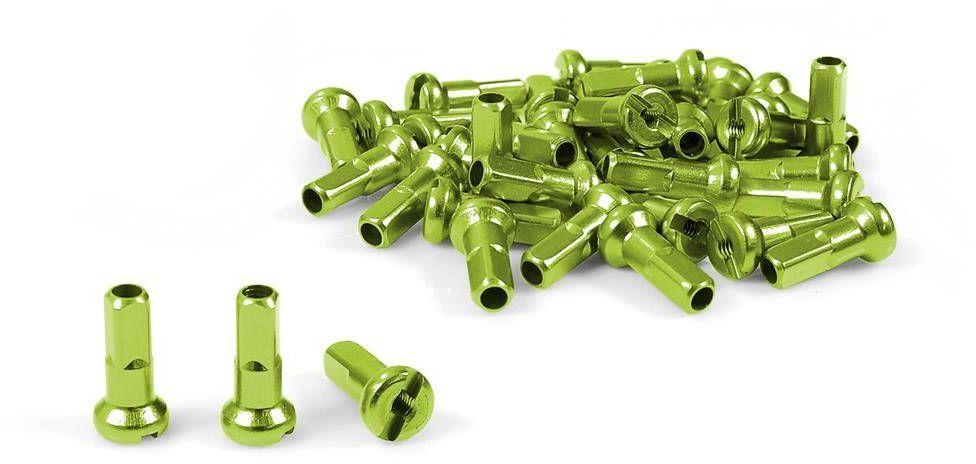 Nyple Dartmoor aluminiowe zielone komplet 38 szt.