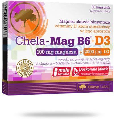 Olimp Chela-Mag B6 100 mg + D3 2000 30 kapsułek