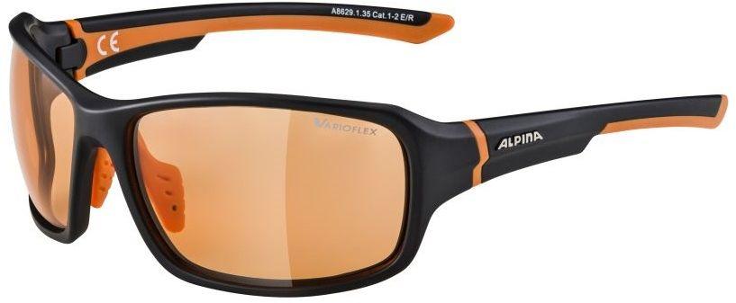 ALPINA SS19 OKULARY LYRON HR VL kolor BLACK-MATT-ORANGE szkło VARIOFLEX ORANGE Cat.1-2 A8629135,4003692286819
