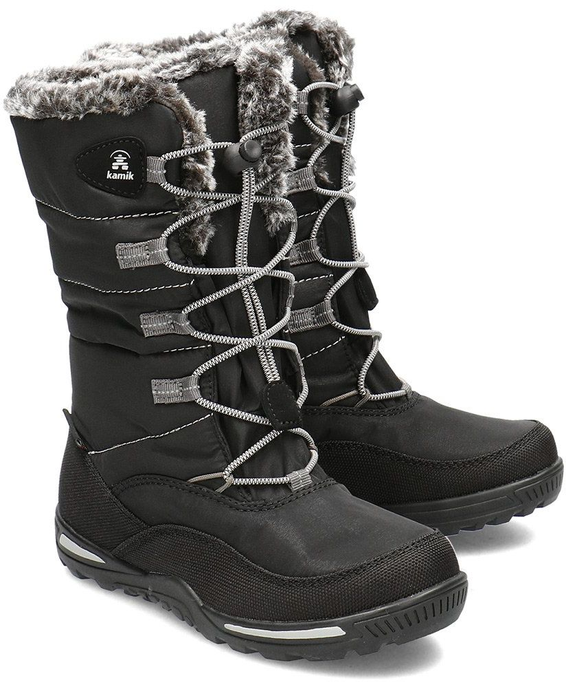 Kamik Cassia - Śniegowce Dziecięce - NF4050 BLK - Czarny