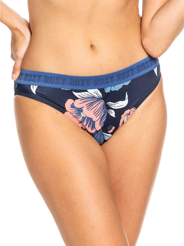 Roxy FITNESS FULL BOTTOM MED BLUE FULL FLOWERS dwuczęściowe stroje kąpielowe damskie luksusowe - L