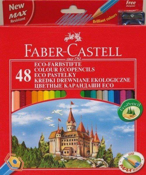 Kredki Zamek 48 kolorów FABER CASTELL