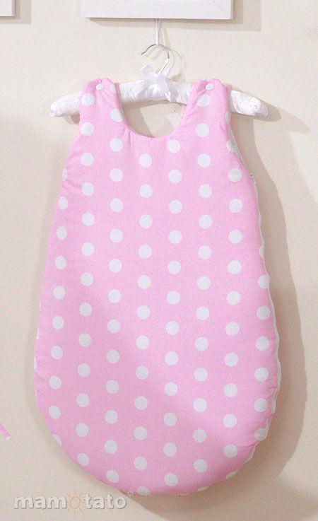 MAMO-TATO Śpiworek niemowlęcy Grochy różowe - WYPRZEDAŻ
