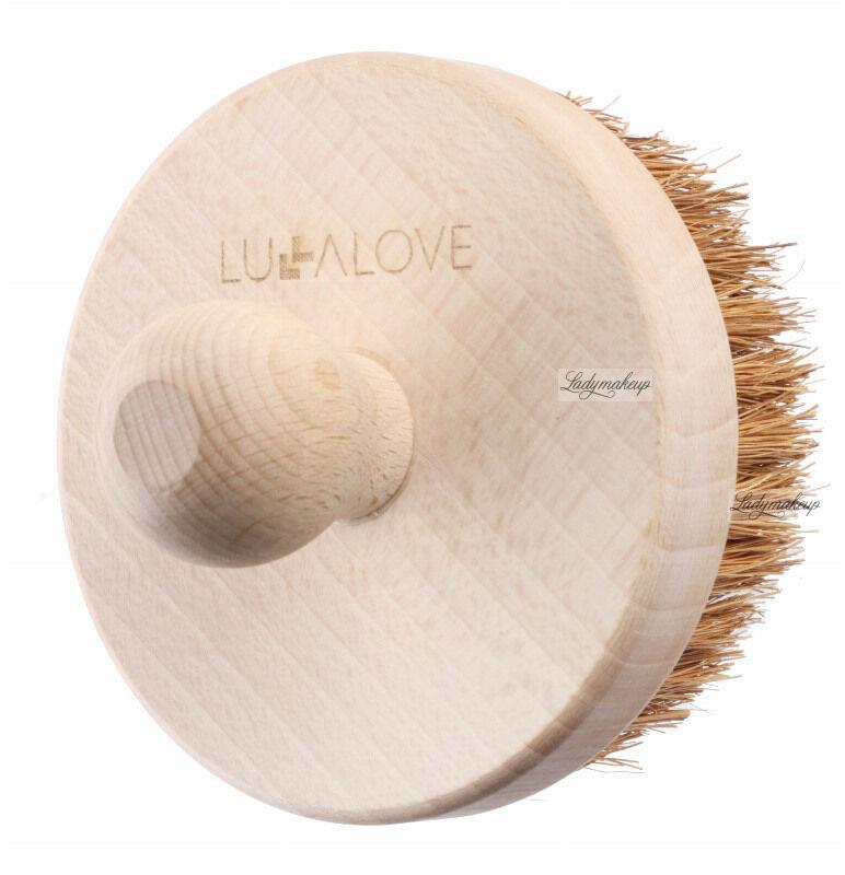 LULLALOVE - Ostra, okrągła szczotka do masażu ciała - Włókno kokosowe