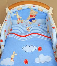 MAMO-TATO Poszewka na poduszkę 40x40cm Przyjaciele w błękicie