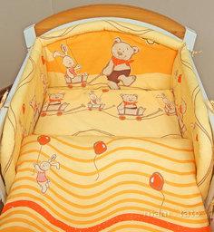 MAMO-TATO Poszewka na poduszkę 40x40cm Przyjaciele w pomarańczu