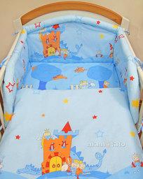 MAMO-TATO Poszewka na poduszkę 40x40cm Zamek błękitny