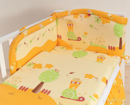 MAMO-TATO Poszewka na poduszkę 40x40cm Ślimaki pomarańczowe