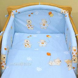 MAMO-TATO Poszewka na poduszkę 40x40cm Baloniki błękitne
