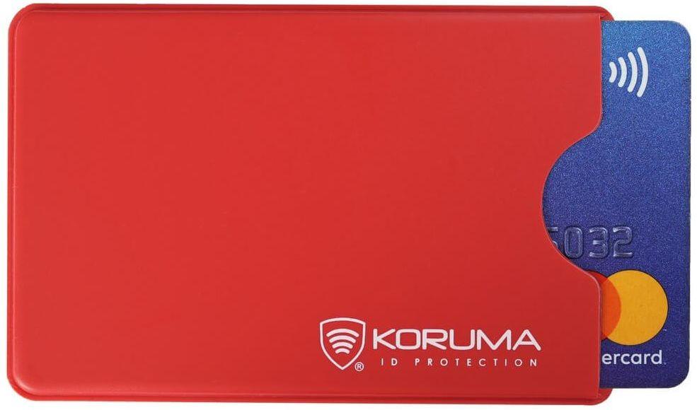 Plastikowe etui antykradzieżowe RFID (czerwony) - KUK-69VR Koruma