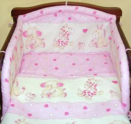 MAMO-TATO Poszewka na poduszkę 40x40cm Różowe serduszka