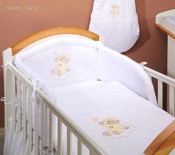 MAMO-TATO pościel 2-el Miś na chmurce w bieli do łóżeczka 70x140cm
