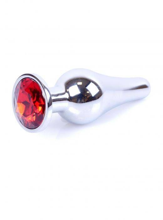 Metalowy Korek Idealnie Wyprofilowany z Klejnotem Srebrno-czerwony