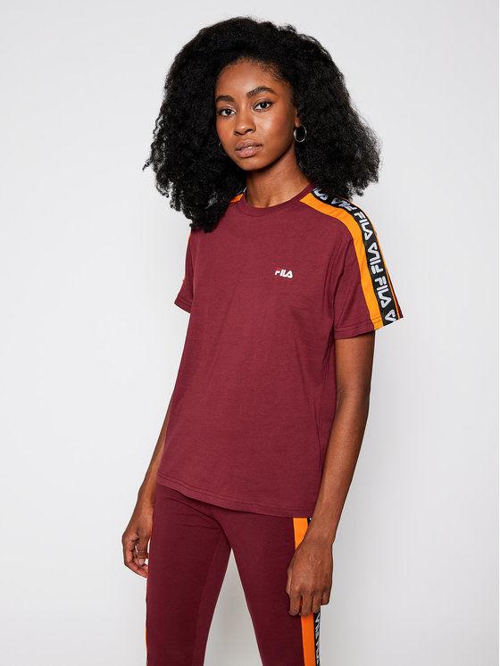 Fila T-Shirt Tandy 687686 Bordowy Regular Fit