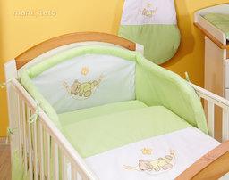 MAMO-TATO pościel 2-el Miś w hamaku w zieleni do łóżeczka 70x140cm