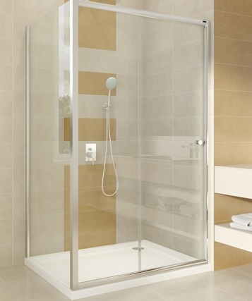 Omnires Bronx drzwi prysznicowe 140x185cm szkło przezroczyste S-2050140
