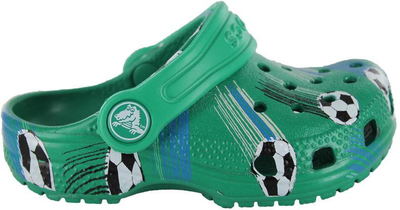 Klapki dziecięce Crocs Classic Sports Ball zielone2064173TJ