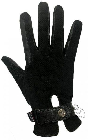 Rękawiczki letnie perforowane czarne- KENIG