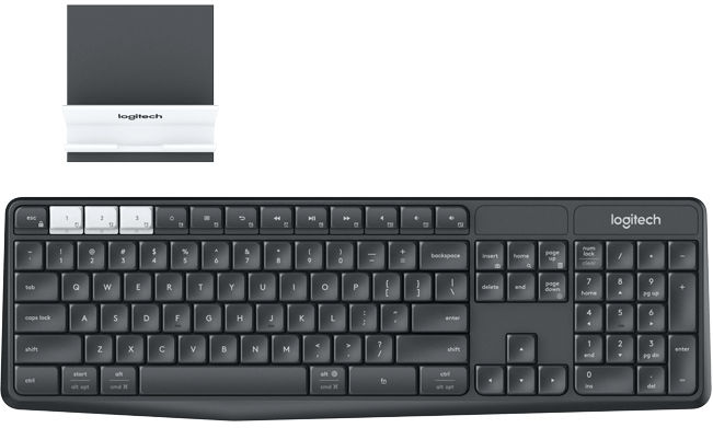 K375s Multi-Device Wireless Keyboard and Stand Combo - German Layout