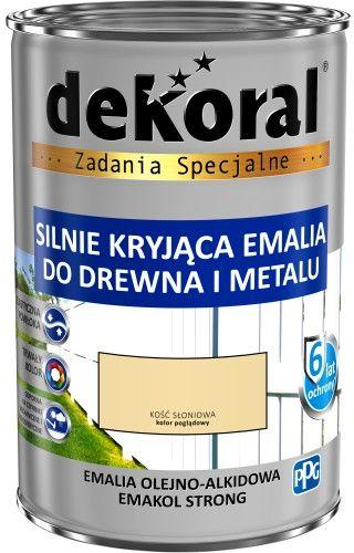 DEKORAL EMALIA EMAKOL STRONG KOŚĆ SŁONIOWA POŁYSK 0,9 L