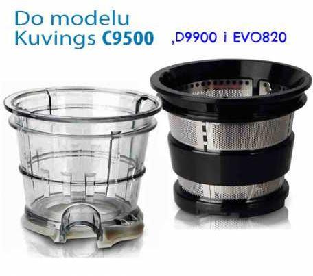 Zestaw dodatkowych sitek do wyciskarki Kuvings C9500, D9900 , EVO820