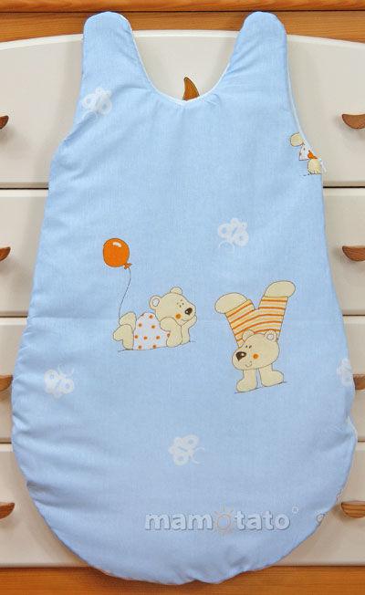 MAMO-TATO Śpiworek niemowlęcy Baloniki błękitne