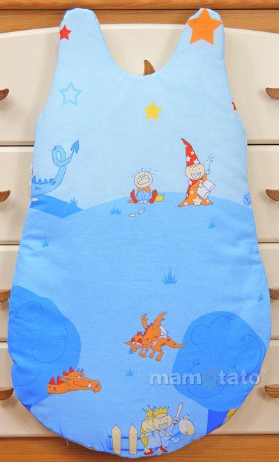 MAMO-TATO Śpiworek niemowlęcy Zamek błękitny