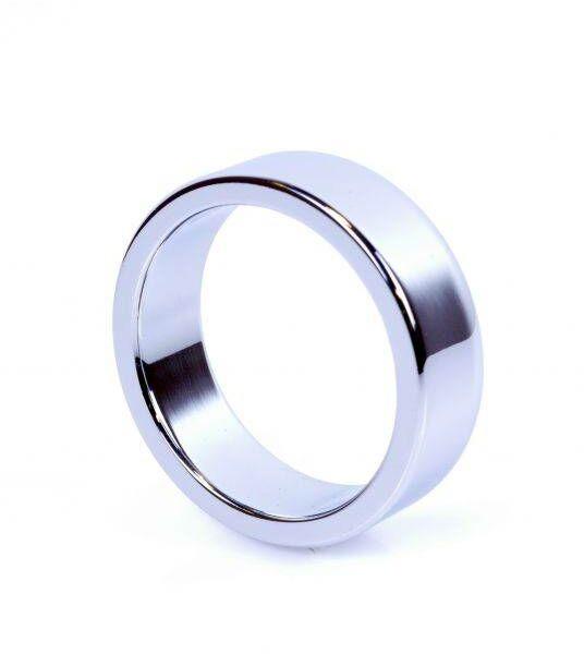 Metalowy Pierścień na Penisa Duży Srebrny 100% DYSKRECJI BEZPIECZNE ZAKUPY