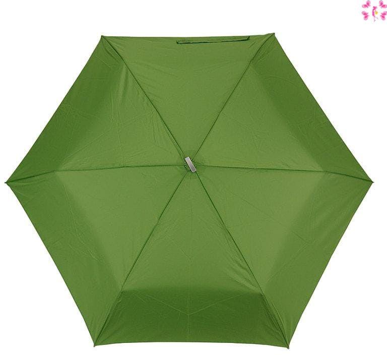 Mała zielona podróżna parasolka- włókno węglowe