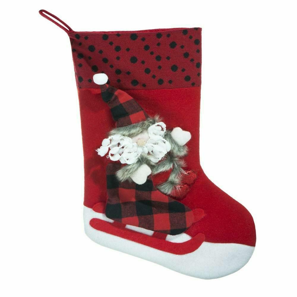Ozdoba świąteczna Stacy skarpeta but czerwona mikołaj Eurofirany