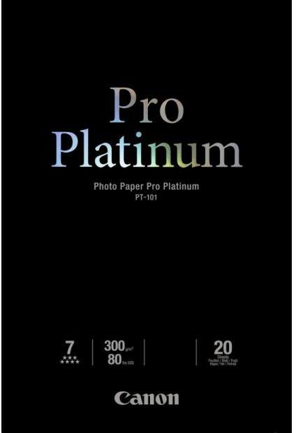 Papier CANON Pro Platinum PT-101 300 g/m2 - A4, 20 arkuszy (2768B016)
