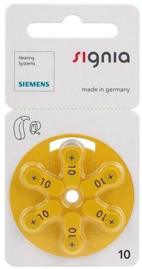 Baterie do aparatów słuchowych Siemens Signia 10 MF 6 sztuk